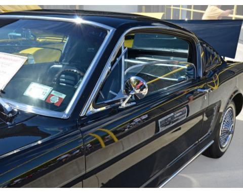 Door Glass, Left - 65-66 Ford Mustang - Fastback