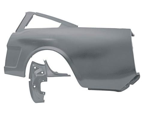 Ford Mustang Quarter Panel - 1 Piece Design - Left - Fastback