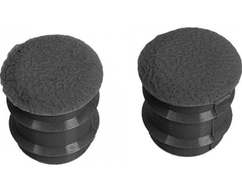 Daniel Carpenter Ford Mustang Arm Rest Plugs - Black - For Deluxe Arm Rests C7ZZ-6524056