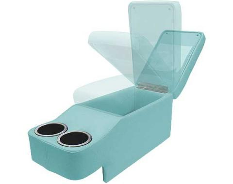Ford Mustang Saddle Console - Coupe & Fastback & Convertible - Metallic Light Blue