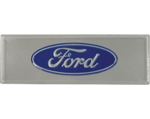 Door Scuff Plate Emblem - Ford Script Exact As Original - Adhesive Backing
