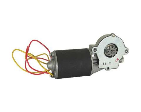 Power Window Motor - New - 9 Tooth Metal Gear - Left