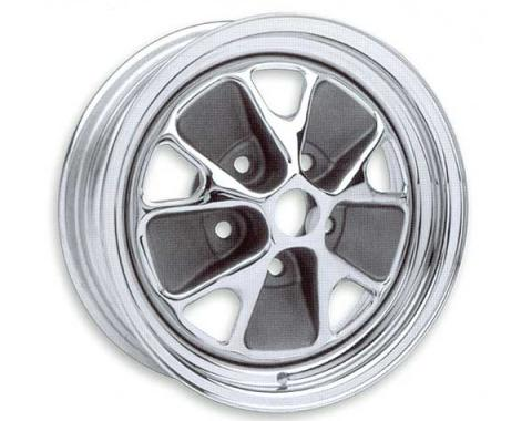 Ford Mustang Wheel - Styled Steel - Chrome With Charcoal Cavities - 14 X 5