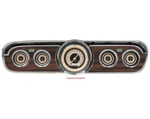 Mustang Classic Instruments® 5-Gauge Set, Nostalgia VT Series, 1964-1966