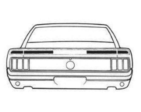 Ford Mustang Trunk Lid Stripe Kit - Mach 1 - 3 Pieces - White