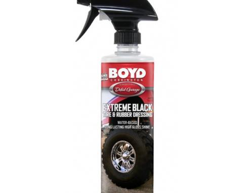 "Boyd Coddington ""Extreme Black"" Tire and Rubber Dressing, 16 oz."