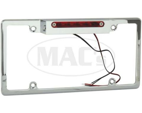 Billet License Plate Frame With 3rd Brake Light
