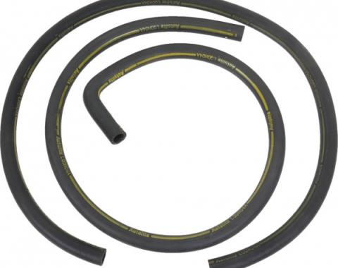 Ford Mustang Heater Hose Set - Exact Reproduction - 2 Pieces - Yellow Stripe - For Cars With Air Conditioning