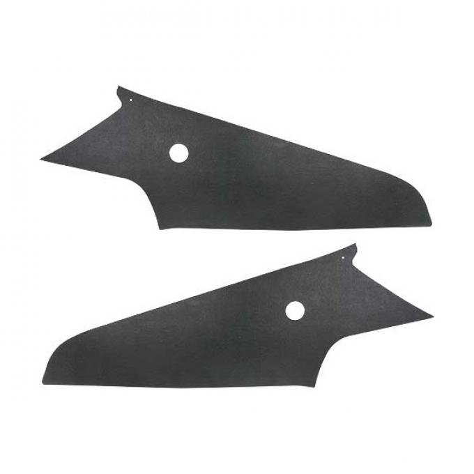 Ford Mustang Sail Panels - Black Textured Panel Board - Fastback