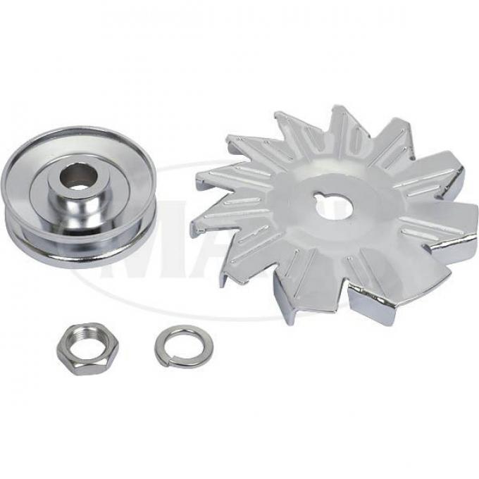 Chrome Alternator Blade &pulley (260,289,302,351