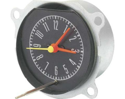 Ford Mustang Dash Clock - Mounts In The Instrument Bezel - Knob Not Included