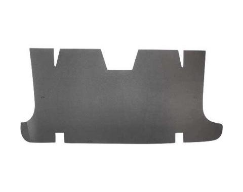 Ford Mustang Rear Seat & Trunk Divider - Die-Cut Thick GrayFelt - Original Style - Coupe