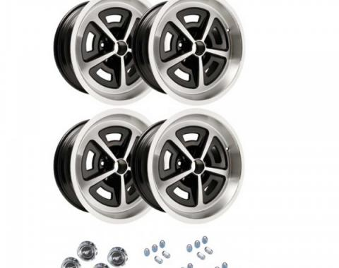 Ford Mustang - Magnum Cast Aluminum Staggered Wheel Kit, 17x8 And 17x9, 1964-1973