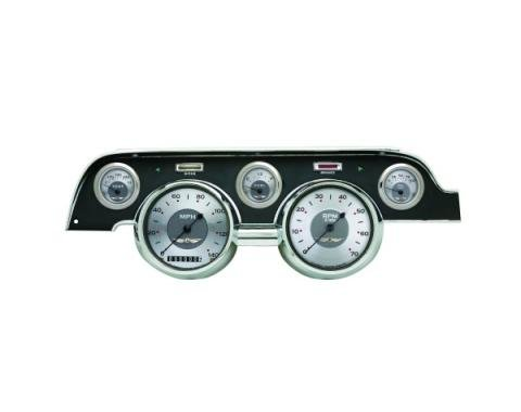 Mustang Classic Instruments® 5-Gauge Set, All American Style, Includes Dash Bezel, 1967-1968