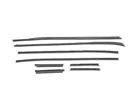 Ford Mustang Belt Weatherstrip Kit - 8 Pieces - Inner & Outer - Convertible - Door Windows & Rear Quarters