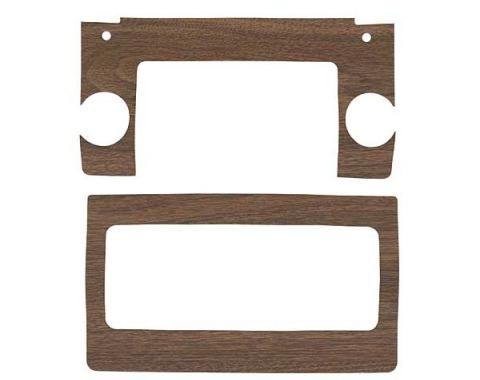 Ford Mustang Decal Kit - Heater & Radio Face Plates - Wood Grain