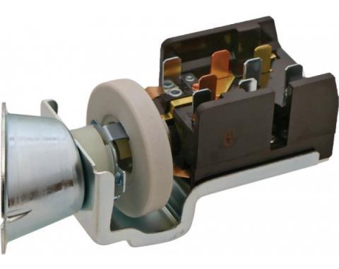Ford Mustang Headlight Switch - 8 Spade Terminals - Motorcraft