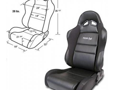 Mustang Bucket Seat, Sportsman Series, Left
