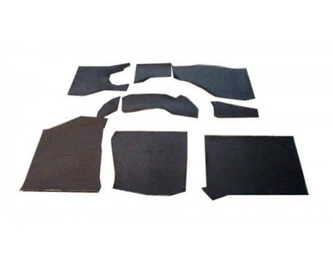 Floor Insulation Kit, KoolMat®, 14 Pieces, Mustang 2+2 Fastback, 1965-1966