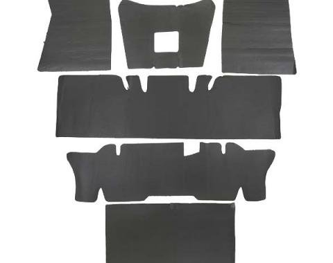 Ford Mustang Complete Sound Insulation Kit - 6 Pieces - Convertible