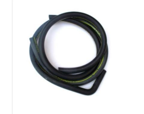 Ford Mustang Heater Hose Set - Exact Reproduction - 2 Pieces - Yellow Stripe - For Cars With Air Conditioning - From 2-1-1970