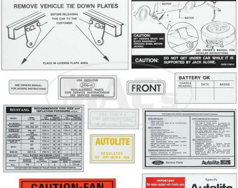 Decal Kit - 1970 Mustang
