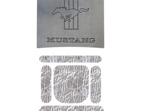 Mustang Hood Cover and Insulation Kit, AcoustiHOOD, Horse and California Special Lettering, 1967-1968