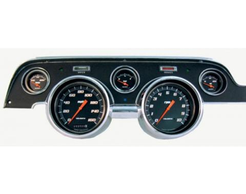 Mustang Classic Instruments® 5-Gauge Set, Velocity Style,Black or White Background, Includes Dash Bezel, 1967-1968