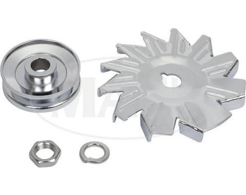 Chrome Alternator Blade &pulley (260,289,302,351