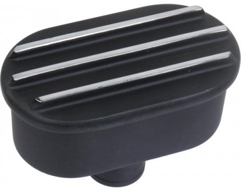 Ford Finned Billet Aluminum PCV Breather, Black Finish