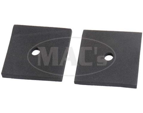 Front Fender To Body Anti-Squeak Pads, Foam Rubber, Pair