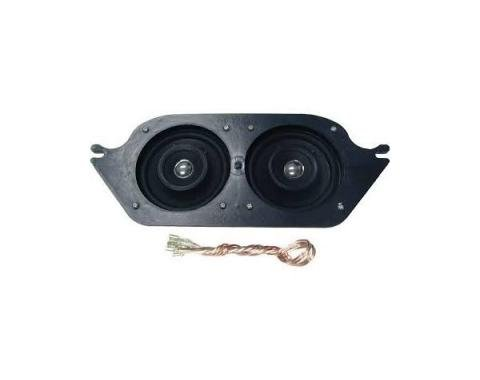 "Ken Harrison Speaker Assembly, w/ Dual 4"" Speakers, 67-68 Mustang"