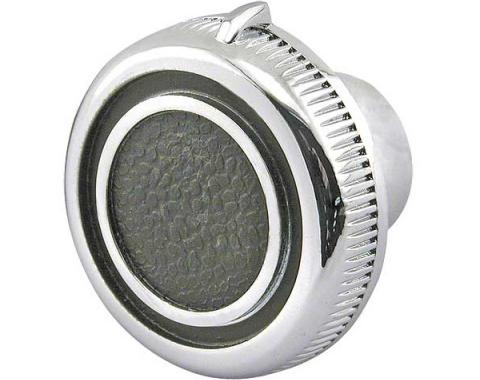 Daniel Carpenter Ford Mustang Windshield Wiper Knob - Chrome With Black Painted Details C9ZZ-17513
