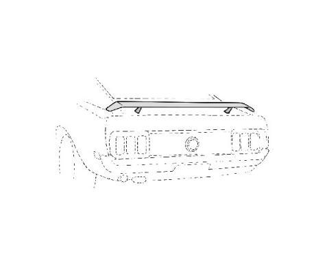 Ford Mustang Rear Spoiler Kit - Black