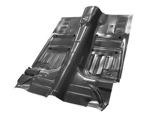 Ford Mustang Full Floor Pan - Convertible - Reinforcement Panels Are Installed