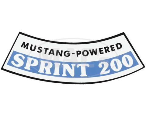 Ford Mustang Air Cleaner Decal - Sprint 200