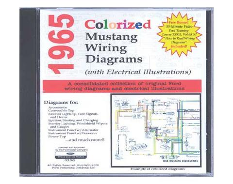 Wiring Diagrams On CD - Includes 1964-1/2 Mustang Supplement - For Windows Operating Systems Only