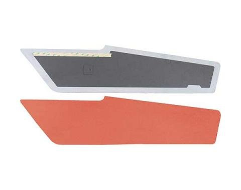 Ford Mustang Sail Panels - Vermillion Or Bright Red Tier Grain Vinyl - Fastback