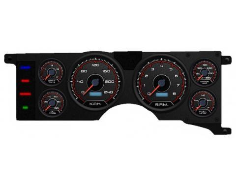Mustang - New Vintage USA CFR Redline Series Kit - 6 Gauge Package, 1979-1986 -  Programmable Speedometer KPH
