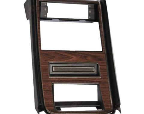 Ford Mustang Dash Center Trim Panel - Wood Grain - No GaugeOpenings - Grande Nameplate Not Included