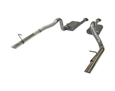Mustang Flowmaster American Thunder Stainless Steel Catback Exhaust System w/OEM Style Tips, 1986-1993