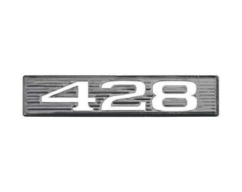 Daniel Carpenter Ford Mustang Hood Scoop Number Plate - 428 C9ZZ-16637-428-P