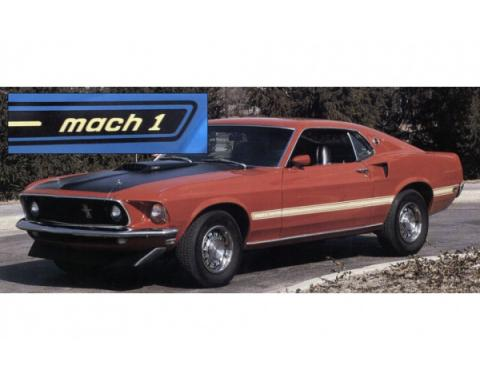 Ford Mustang Exterior Stripe Kit - Mach 1 - Gold & White