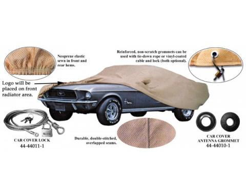 Car Cover, Gray Technalon, With Logo, Fastback 1969-1970