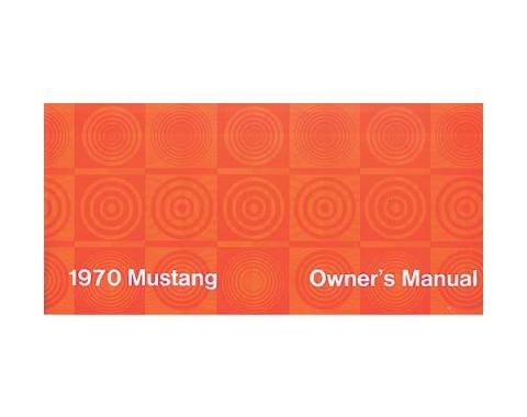 Mustang Owner's Manual - 63 Pages
