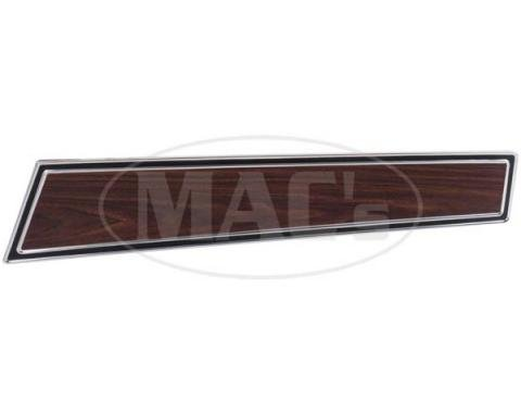 Ford Mustang Door Trim Panel Insert - Wood Grain Insert Panel - With Chrome Accents
