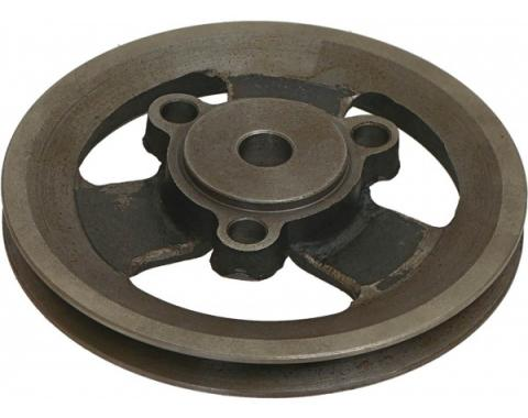 Ford Mustang Crankshaft Pulley, Single Groove, 200 6-Cylinder With Power Steering Or A/C, 1965-1967