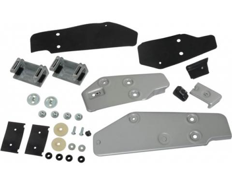 Door Glass Bracket and Stop Kit - Front and Rear - Left Side