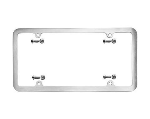 Custom License Plate Frame - Brushed Aluminum