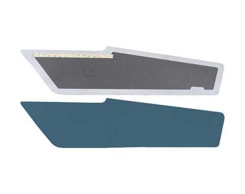 Ford Mustang Sail Panels - Light Blue Tier Grain Vinyl - Fastback